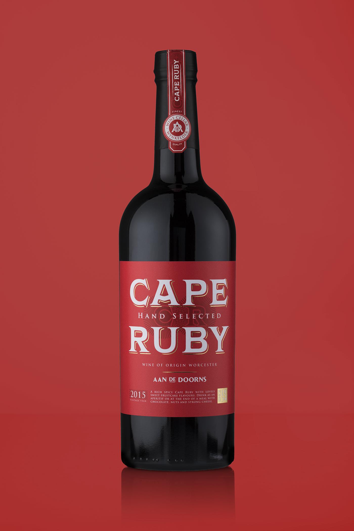 Cape Ruby Port Label Designed For Aan De Doorns